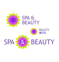 logo for beauty shop and spa vector image