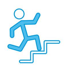 man running pictogram vector image