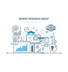 market research group analysis research vector image