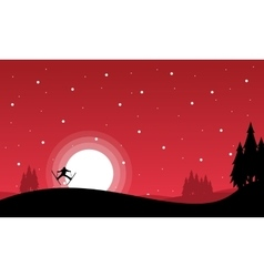 Merry christmas landscape collection vector