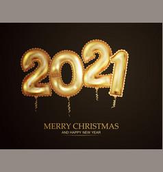 new year golden balloon golden metallic numbers vector image
