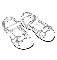 Outline Climbing Sandals vector image