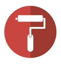 paint roller tool icon shadow vector image