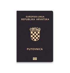 Passport croatia vector