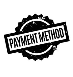 Payment method rubber stamp vector