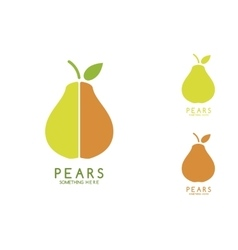 Pears isolated vector