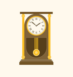 pendulum wooden retro clock vector image