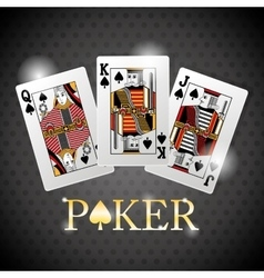 Poker design cards and game concept casino vector