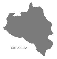 Portuguesa venezuela map grey vector