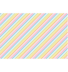 rainbow stripes seamless pattern diagonal texture vector image