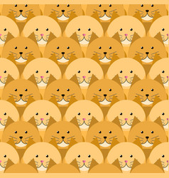 red-headed cats seamless pattern vector image