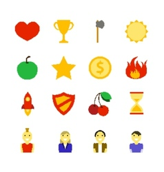 Retro Games Color Icons vector image