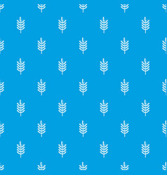 rye spica pattern seamless blue vector image