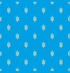 Rye spica pattern seamless blue vector
