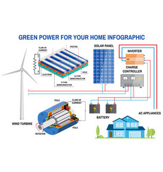 Solar panel and wind power generation system for vector