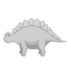 Stegosaurus icon monochrome vector