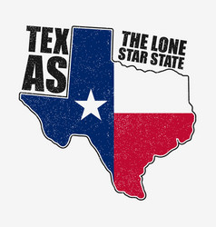 Texas t-shirt with flag vector