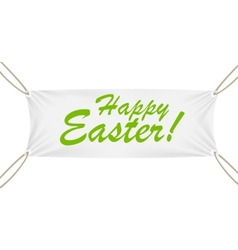 Textile Banner with Happy Easter Text vector image