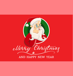 vintage christmas greeting card with vector image