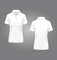 White woman polo t-shirt vector