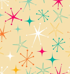 Retro starry pattern vector image vector image
