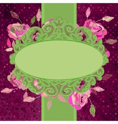 Vintage template with flowers EPS 8 vector image