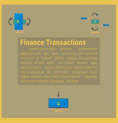 finance transaction idea concept vector image vector image