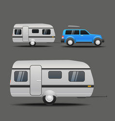 modern car with the trailer vector image