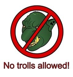 No trolls allowed sign vector