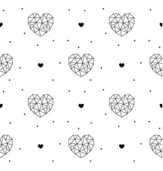 outline hearts seamless pattern for valentines day vector image vector image