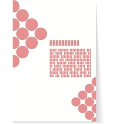 White and red background for brochure or cover vector image vector image