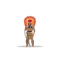 Aztec redskin warrior sign vector image
