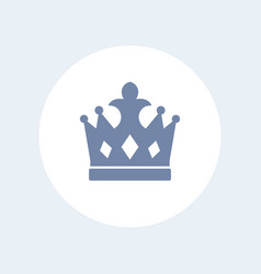 crown icon isolated over white vector image vector image