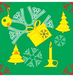 new year and christmas texture vector image