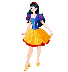 Snow White Girl vector image vector image