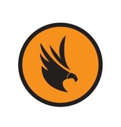 stylish silhouette eagle logo vector image vector image