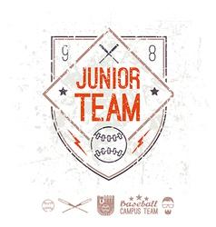 Emblem baseball junior college team vector image vector image