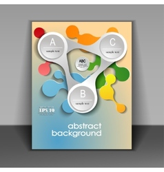 flyer layout with elements of infographics vector image
