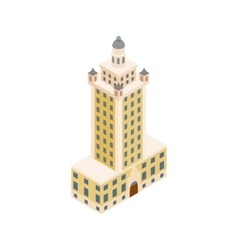 Freedom tower in Miami icon isometric 3d style vector image