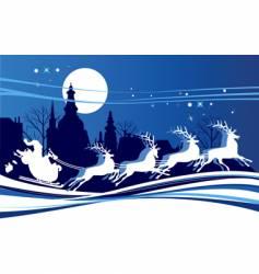 Santa in town vector image vector image