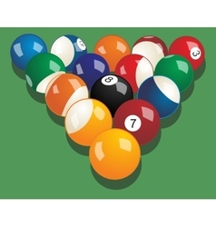Set of billiard balls realistic vector image