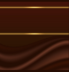 Abstract background chocolate wave silk texture vector