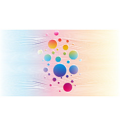 abstract rainbow lines background page template vector image