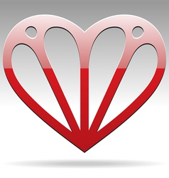 abstract shape heart vector image