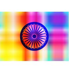 Ashoka chakra wheel dharma icon vector