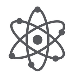 atom structure glyph icon scientific and nuclear vector image