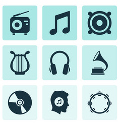Audio icons set collection of megaphone vector