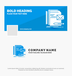 blue business logo template for brand company vector image