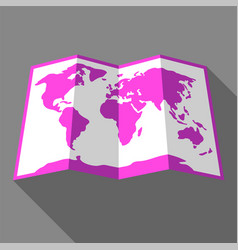 Bright color map vector