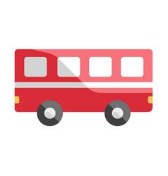Bus flat vector
